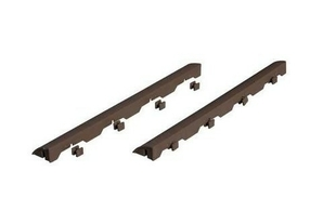 Bordure pour dalle autoportante ép.4cm haut.14cm long.39cm marron - lot de 6 - Gedimat.fr