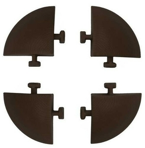 Angle pour dalle autoportante dim.5,8x5,8cm marron - lot de 4 - Gedimat.fr