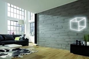 Lambris effet 3D SP300 lames �p.15mm larg.panach�es 80-100-120mm long.840mm b�ton - GEDIMAT - Mat�riaux de construction - Bricolage - D�coration