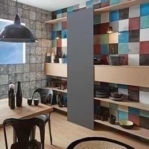 Carrelage pour mur en faïence brillante MAIOLICA dim.20x20cm coloris prugna - Gedimat.fr