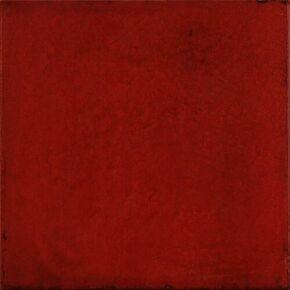 Carrelage pour mur en faïence brillante MAIOLICA dim.20x20cm coloris rosso - Gedimat.fr