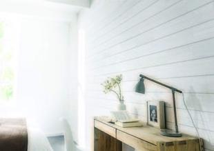 Lambris pin des Landes about� rabot� CLASSIC BLANC �p.12mm larg.120mm long.2500mm blanc neige nuanc� - GEDIMAT - Mat�riaux de construction - Bricolage - D�coration