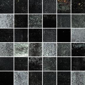 Mosaïque MATTONCINO pour sol en grès cérame coloré dans la masse rectifié OXY dim.30x30cm coloris blackmore 01 - Gedimat.fr