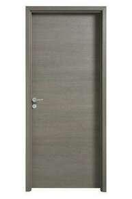 Bloc-porte FUJI isolant revêtu mélaminé structuré finition gris galet haut.204cm larg.83cm droit poussant - Gedimat.fr