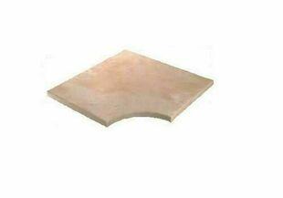 Angle droit JOUQUES rayon 0,14m dim.45x45x3,5 cm aquitaine - Gedimat.fr
