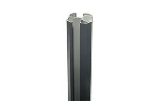 Poteau grand vent 3 en 1 gris anthracite sablé 1260mm - Gedimat.fr