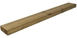 Bois d'ossature Pin Sylvestre raboté et abouté traitement autoclave vert Classe 4 section 45x120mm long.4,20m - Gedimat.fr