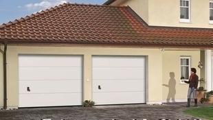 Porte de garage sectionnelle monobloc prémontée haut.2,00m larg.2,375m Blanc - Gedimat.fr