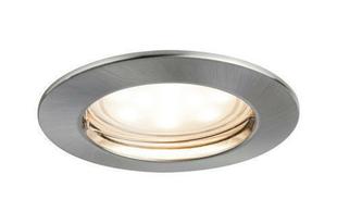 Encastré LED coins satiné rond diam.79mm coloris acier brossé - Gedimat.fr