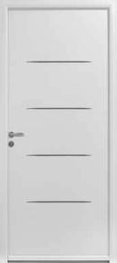 Porte d'entrée aluminium thermolaqué GRIFF gauche poussant Haut.2,15m Larg.90cm - Gedimat.fr