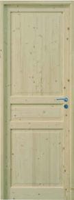 Bloc-porte CIRCEE huisserie 92x45mm en épicéa 1er choix haut.204cm larg.83cm gauche poussant - Gedimat.fr