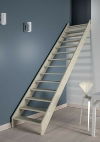 escalier droit en kit bergen en sapin haut 2 75m sans rampe. Black Bedroom Furniture Sets. Home Design Ideas