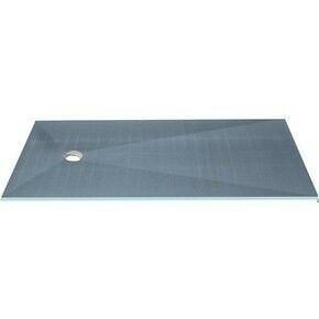 Receveur carré à carreler PRIMO excentré polystyrène extrudé haut.4cm larg.120cm long.120cm - Gedimat.fr