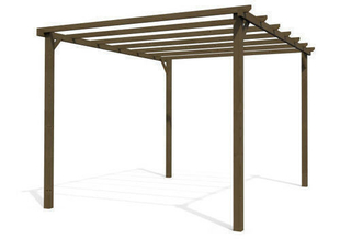 pergola bois eco 4x3m marron. Black Bedroom Furniture Sets. Home Design Ideas