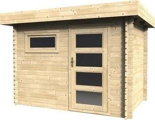 Abri PLOSIREAL ép.28mm dim.3x2m toit plat - Gedimat.fr