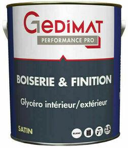 Peinture glycéro boiserie & finition sat 2,5 L GEDIMAT PERFORMANCE PRO - Gedimat.fr