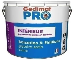 Laque glycéro satinée pot de 10L - Gedimat.fr