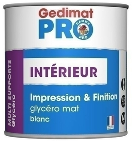 Peinture glycéro boiserie & finition mat 0,5 L GEDIMAT PERFORMANCE PRO - Gedimat.fr