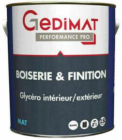 Peinture glycéro boiserie & finition mat 2,5 L GEDIMAT PERFORMANCE PRO - Gedimat.fr