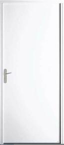 Porte secondaire Acier Finition blanche ALBEA gauche poussant haut.2,15m larg.90cm - Gedimat.fr
