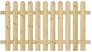 Clôture bois  plate Pin Sylvestre ou Epicéa long.180 cm haut.100 cm traité autoclave - Gedimat.fr