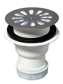 Bonde de douche grille inox WIRQUIN pour receveur diam.60mm sortie verticale - Gedimat.fr