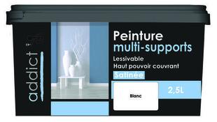 Peinture multi-supports satin 2.5 l blanc - Gedimat.fr