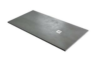 Receveur rectangulaire à poser ou à encastrer BASE akron haut.3cm larg.90cm long.1,00m beton cimento - Gedimat.fr