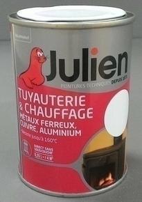 Peinture TUYAUTERIE & CHAUFFAGE sans sous-couche bidon de 0,25 litre coloris noir brillant - Gedimat.fr