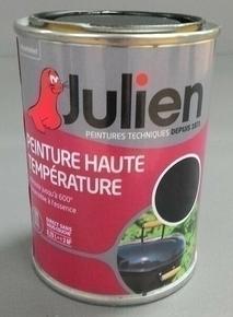 Peinture technique HAUTE TEMPERATURE sans sous-couche bidon de 0,25 litre coloris noir mat - Gedimat.fr