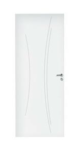 Porte seule alvéolaire rainuré KAORI prépeint - 204x73cm - Gedimat.fr