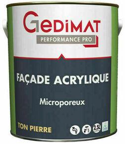 Peinture façade acrylique ton pierre 2,5 L GEDIMAT PERFORMANCE PRO - Gedimat.fr