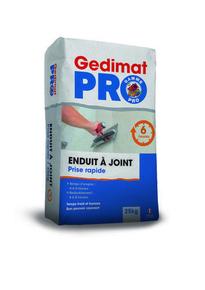 Enduit à joint prise rapide 6h Gedimat Pro sac de 25 kg - Gedimat.fr