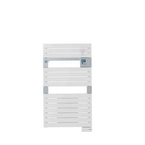 Radiateur sèche-serviettes ASAMA avec soufflant 1000 + 500W long.55cm haut.101cm prof.12cm Blanc - Gedimat.fr