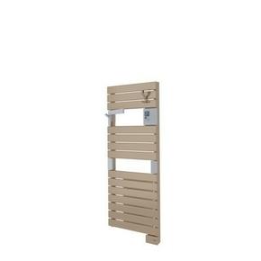 Radiateur sèche-serviettes ASAMA avec soufflant 1000 + 500W long.55cm haut.101cm prof.12cm Cappuccino - Gedimat.fr