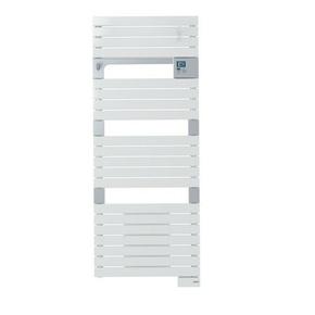 Radiateur sèche-serviettes ASAMA avec soufflant 1000 + 750W long.55cm haut.141cm prof.12cm Blanc - Gedimat.fr