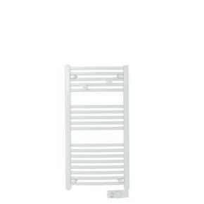 Radiateur sèche-serviettes galbé GORELI 500W Dim.L.48xH.100xP.10cm - GEDIMAT - Matériaux de construction - Bricolage - Décoration