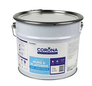 Peinture murs et plafonds mat lessivable blanc 10L - Gedimat.fr