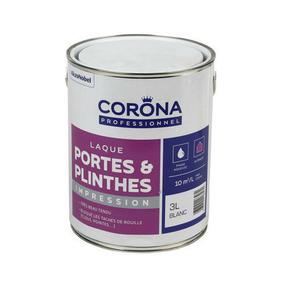 Peinture portes et plinthes impression laque blanc 3L - Gedimat.fr