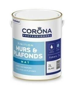 Peinture murs et plafonds mat intérieur blanc 3L - Gedimat.fr