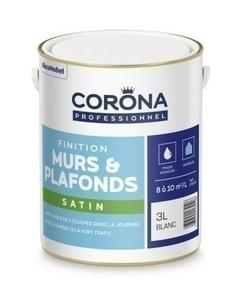 Peinture murs et plafonds satin blanc 3L - Gedimat.fr