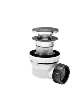 Siphon pour vasque sans trop-plein XS PURE - Gedimat.fr