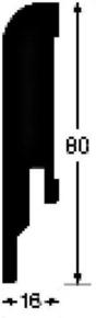 Plinthe MDF mélaminé pour sol stratifié LD95 ép.16mm larg.80mm long.2.50m chêne cappucino - Gedimat.fr