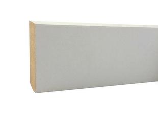 Plinthe en MDF prépeintes blanche à finir section Long.2,44m 14x80mm - Gedimat.fr