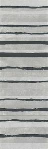 Décor LINED pour mur en faïence NUXE larg.25cm long.75cm coloris white black - Gedimat.fr