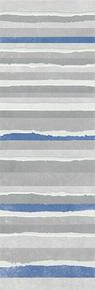 Décor LINED pour mur en faïence NUXE larg.25cm long.75cm coloris white blue - Gedimat.fr
