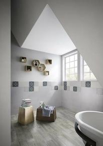 Carrelage pour sol intérieur en grès cérame émaillé RIVERSIDE larg.15cm long.60cm coloris 156W blanc - Gedimat.fr