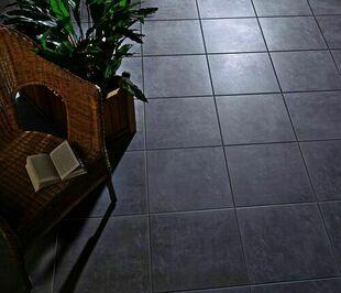 Carrelage pour sol intérieur en grès cérame émaillé TIMES SQUARE dim.45x45cm coloris gris - Gedimat.fr