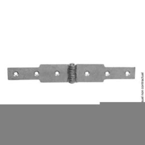 Charnière à congé 40x2,5 L.120 + L.120mm Zinguée blanc - Gedimat.fr