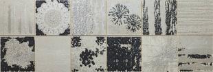 Décor COLLAGE pour mur en faïence satinée rectifiée MEGALOS HIPSTER larg.29,5cm long.90cm coloris smoke - Gedimat.fr